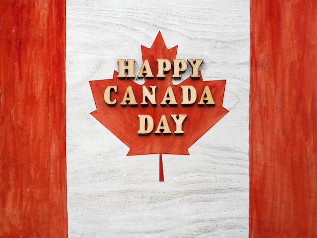 Beautiful drawing of the canadian flag. closeup