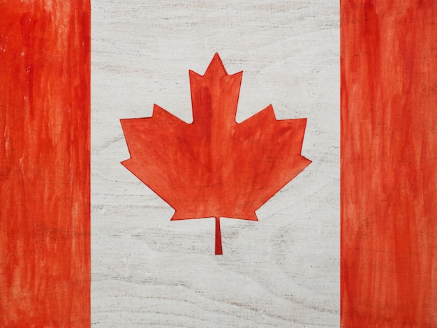 Beautiful drawing of the canadian flag.