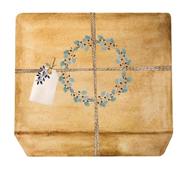 선물 상자의 아름다운 그림