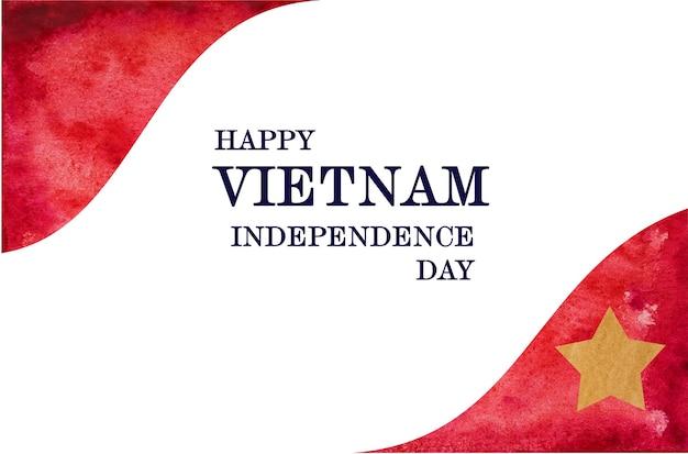 베트남 국기의 아름다운 그림