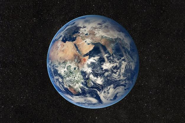 Красивый вид на землю из космоса. элементы этого изображения, предоставленного наса.