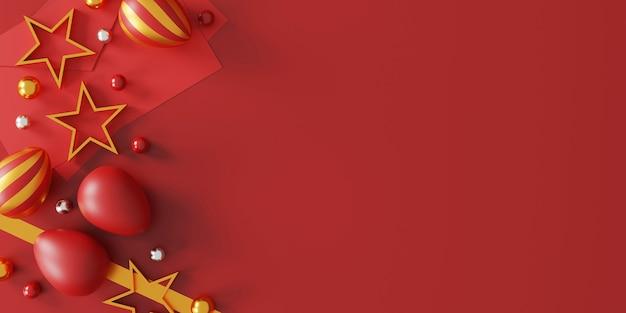 赤の美しいイースターエッグ