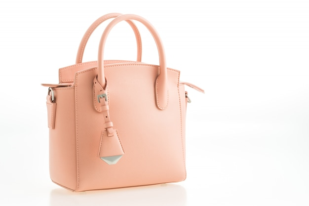 Beautiful elegance and luxury fashion pink women handbag