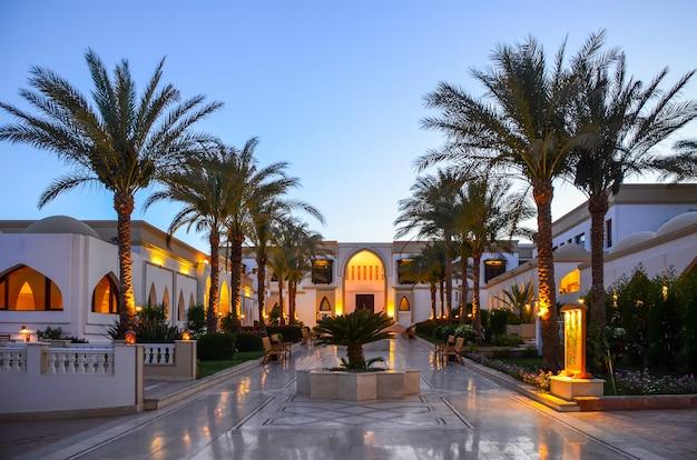 Beautiful evening in egypt. sharm el-sheikh