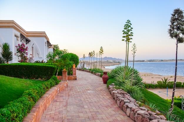 Beautiful evening at the hotel arabic egypt. sharm el-sheikh