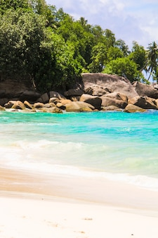 Beautiful exotic tropical beach at seychelles