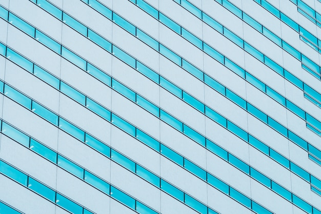 Beautiful exterior building with glass window pattern textures