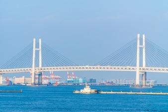 Beautiful exterior of Yokohama bridge