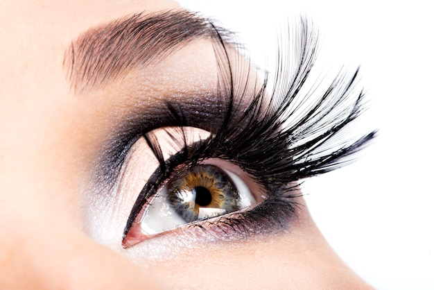 Красивый макияж глаз. здоровье, косметика и макияж. праздничный облик