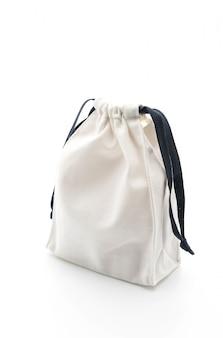 Beautiful fabric bag on white