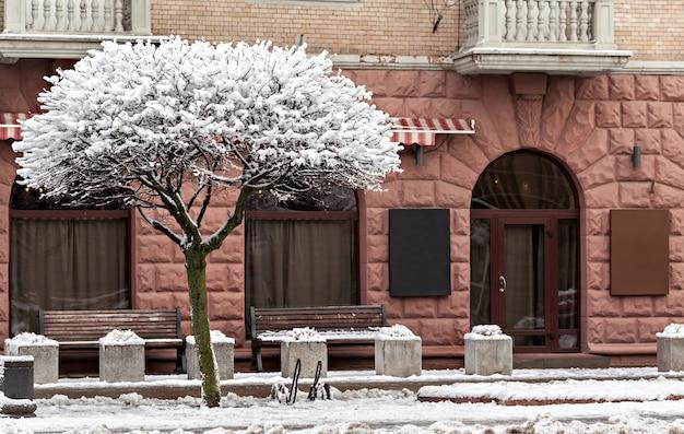 Beautiful facade in winter time