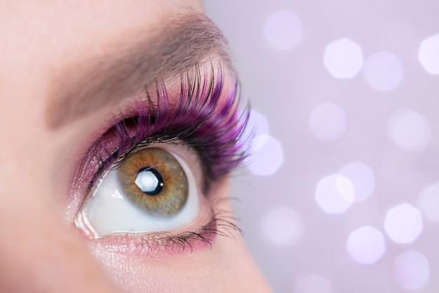 Beautiful fashionable eye makeup close-up