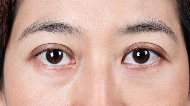 Beautiful female eyes close up