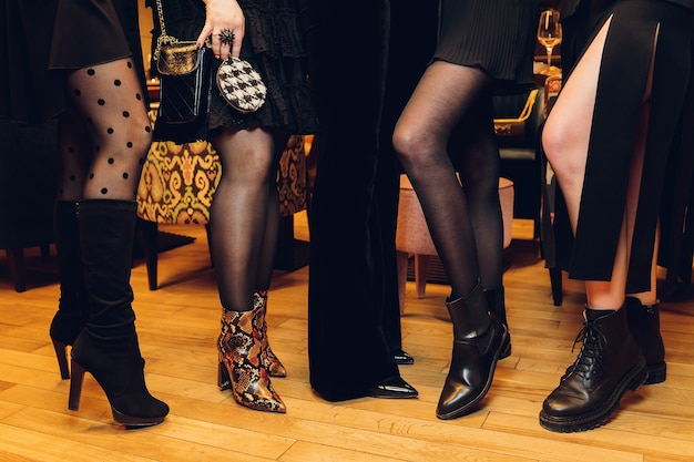 Beautiful female slim feet of group of girls, please see some of my other parts of a body images.