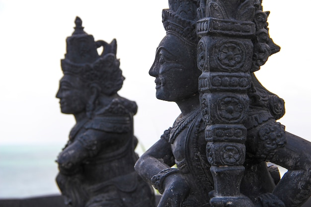 Beautiful figures in the tanah lot temple. indonesia