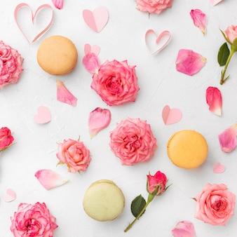Красивая цветочная концепция дня святого валентина