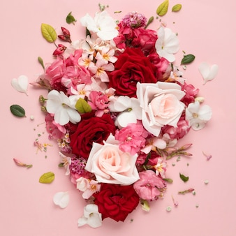 Beautiful floral valentine's day concept