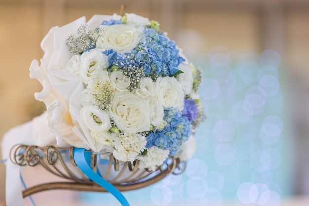 Beautiful flower wedding bouquet decorate for background