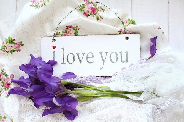 Beautiful flowers irises love