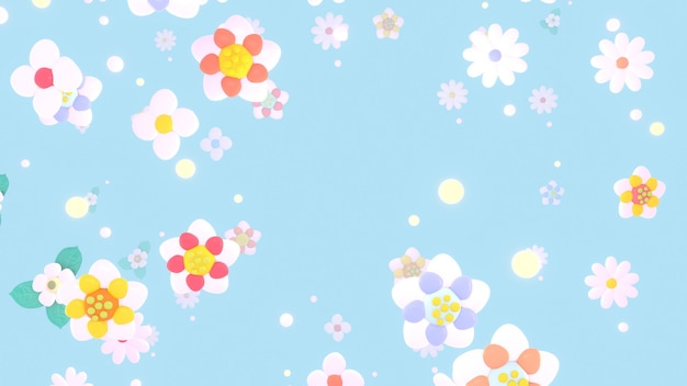 美しい花のパターンの3dレンダリングされた画像
