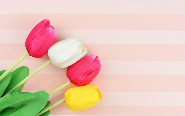 Beautiful flowers tulips background