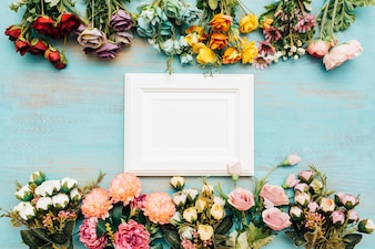Beautiful flowers with white frame.