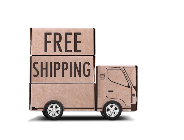Beautiful free shipping concept isolated
