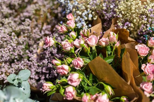 Beautiful fresh blossoming flowers