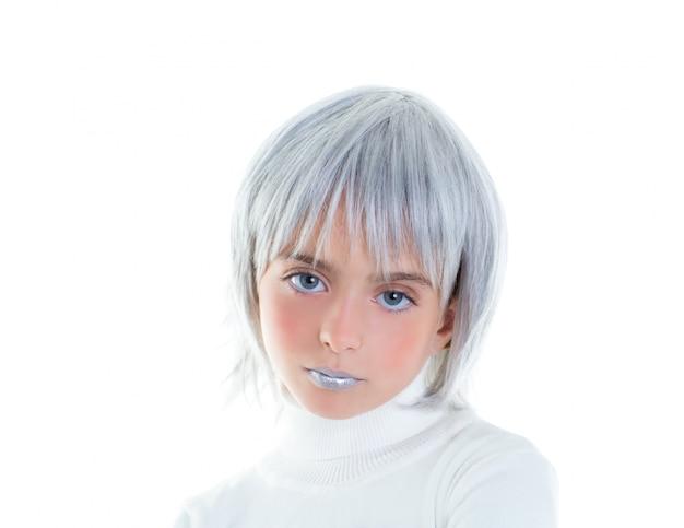Beautiful futuristic kid girl futuristic child