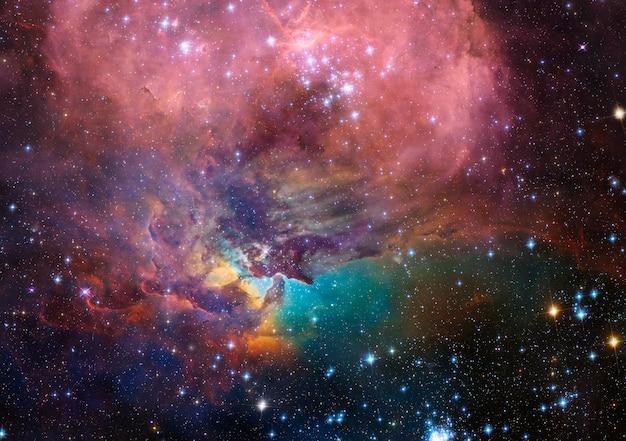 우주에서 공상 과학 소설 배경 아름다운 은하