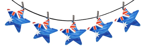 Beautiful garland with small australian flags.