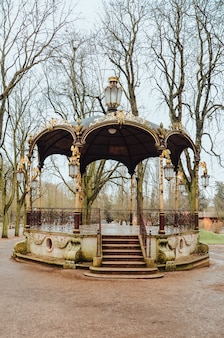 Beautiful gazebo in the countryside in france