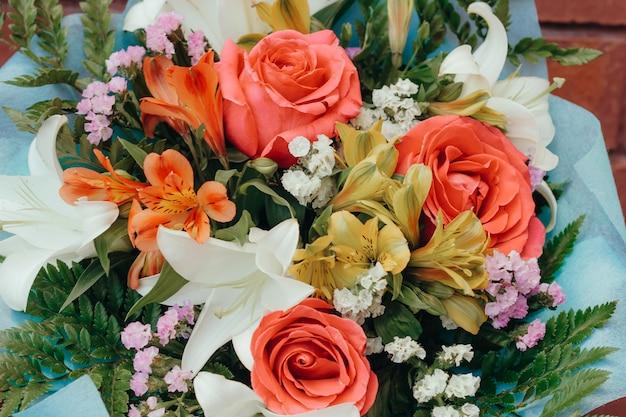 Beautiful gentle festive bouquet