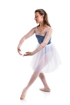 아름다운 소녀 발레 댄서