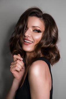 Beautiful girl face. perfect makeup