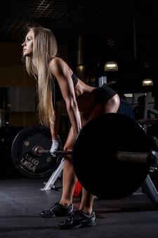 Beautiful girl in the gym