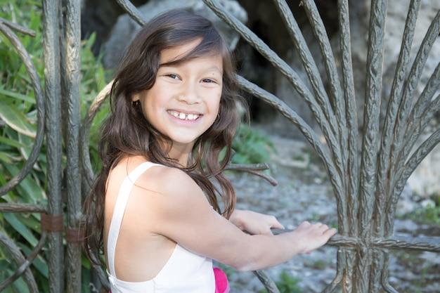 Beautiful girl smiling child