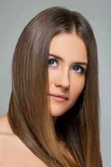 Beautiful girl with long hair