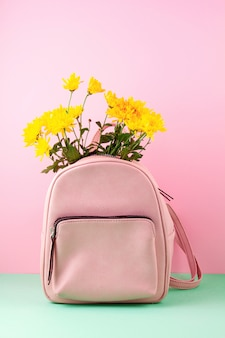 Beautiful girls bag with flowers.