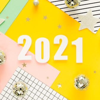 Beautiful and glittery new year concept