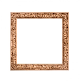 Beautiful gold frame isolated on white background