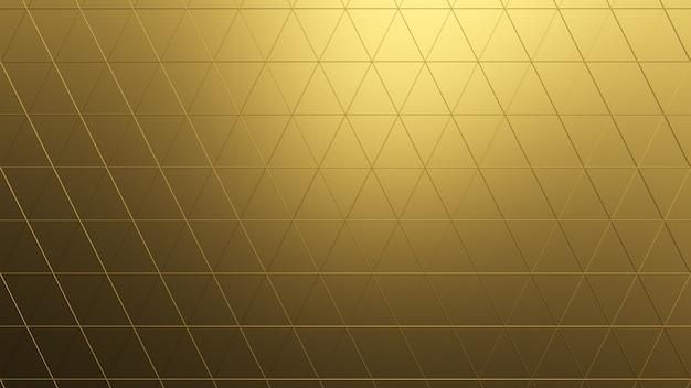 Красивый золотой низкополигональный морфинг поверхности
