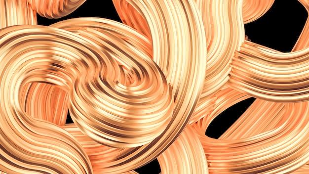 Beautiful golden background. 3d rendering.