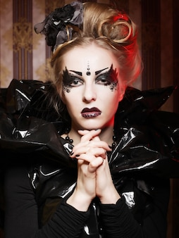 Beautiful gothic princess. halloween party.