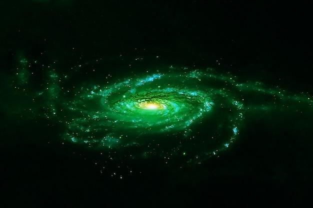 Nasaによって提供されたこの画像の美しい緑の銀河要素。高品質の写真