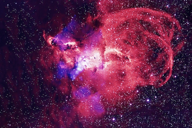 Beautiful green galaxy with stars. elements of this image were furnished by nasa. high quality photo