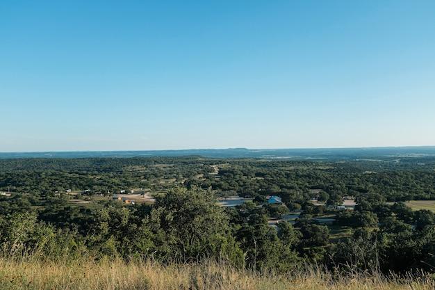 アメリカ合衆国、タホ湖周辺のテキサスの田舎の美しい緑