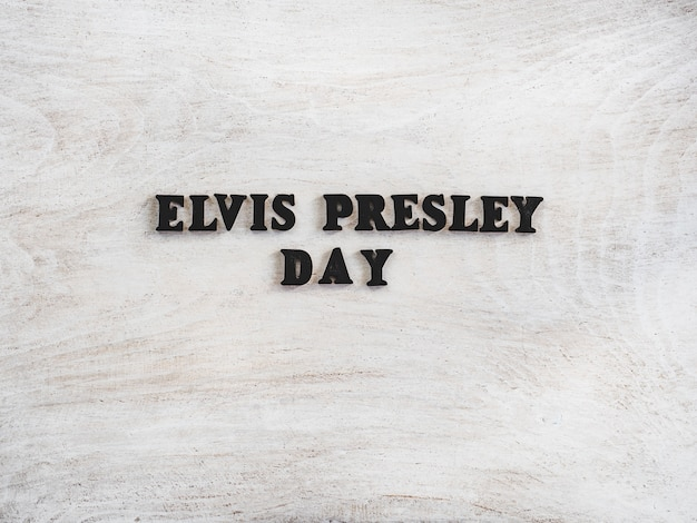Beautiful greeting card for elvis presley day
