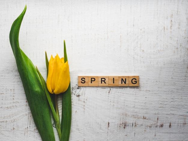Красивая открытка со словом весна
