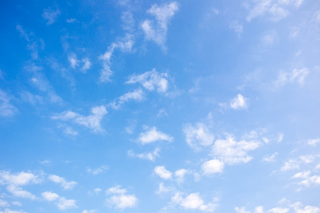 Beautiful a group of clouds in the blue sky during the sun